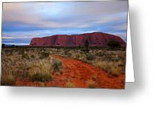 Red Center Dawn Greeting Card