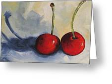 Red Cherries Greeting Card