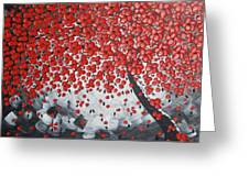 Red Cherry Tree Greeting Card