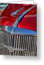 Red Chevrolet Grill And Hood Ornament Greeting Card