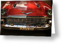 Red Chevrolet Greeting Card