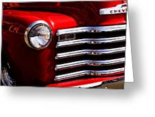 Red Chevy Truck Greeting Card