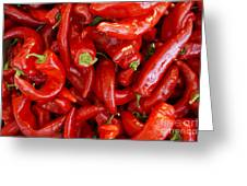 Red Chile Peppers  Greeting Card