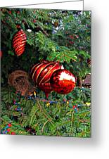 Red Christmas Balls Greeting Card