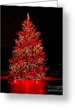 Red Christmas Tree Greeting Card