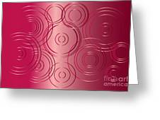 Red Circle Background Greeting Card