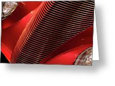 Red Classic Car Details Greeting Card