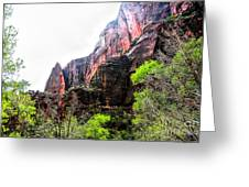 Red Cliffs Zion National Park Utah Usa Greeting Card