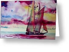 Red Cloud Sail Greeting Card