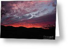 Red Cloud Sunset Greeting Card