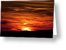 Red Clouds At Sunset Greeting Card