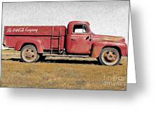 Red Coke Truck Greeting Card