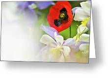 Red Corn Poppy Greeting Card