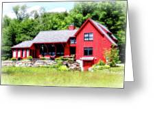 Red Cottage Greeting Card