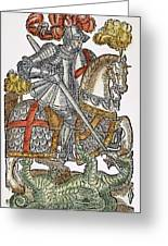 Red Cross Knight, 1598 Greeting Card