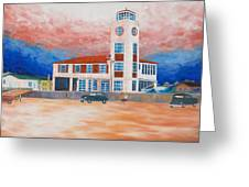 Red Cross Lifeguard Station Greeting Card