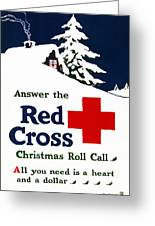 Red Cross Poster, C1915 Greeting Card