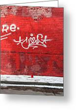 Red Cup Red Wall Greeting Card
