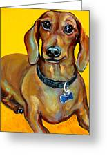 Red Dachshund - Tigger Smiles Greeting Card