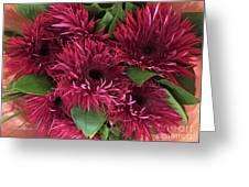 Red Daisies Bouquet Greeting Card