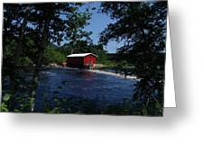 Red Dam In Summer #2 Greeting Card