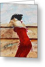 Red Dancer Greeting Card