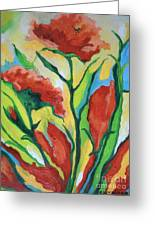 Red Delight Greeting Card