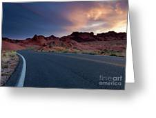 Red Desert Highway Greeting Card