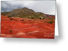 Red Desert Landscape Torotoro National Park Bolivia Greeting Card