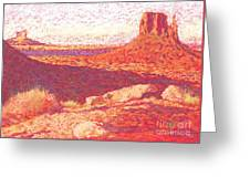 Red Desert Greeting Card