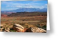 Red Desert With La Sal Mountains Greeting Card