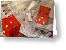 Red Dice Greeting Card
