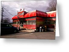 Red Diner Greeting Card