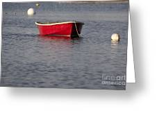 Red Dingy - Rye Harbor New Hampshire Usa Greeting Card