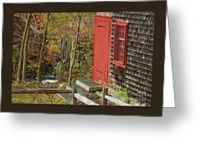 Red Door At The Grist Mill In Fall 2017  Greeting Card