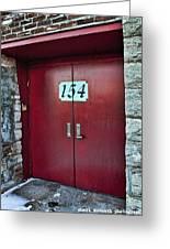 Red Doors Greeting Card
