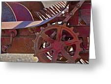 Red Drive Cog Greeting Card