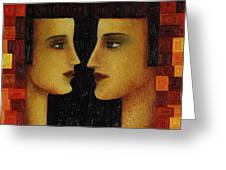 Red Duet. Greeting Card