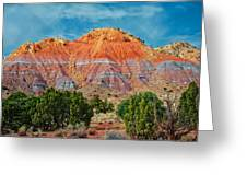Painted Red Earth Greeting Card