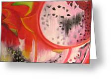 Red Ecstasy 1 Greeting Card