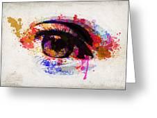 Red Eye Watercolor Greeting Card