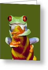 Red Eyed Delight Greeting Card