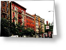 Red Facade Greeting Card