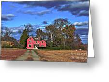 Red Farm House Greeting Card