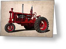 Red Farmall Tractor Greeting Card