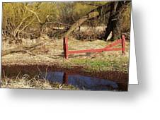 Red Fence Greeting Card