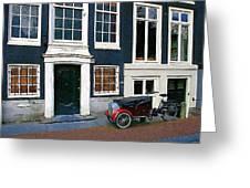 Red Fender Bike Greeting Card