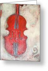 'red Fiddle' Greeting Card