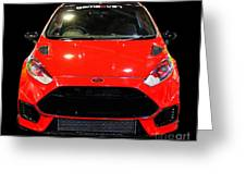 Red Fiesta Mk7.5 Greeting Card