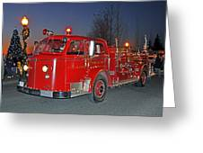 Red Firetruck Greeting Card